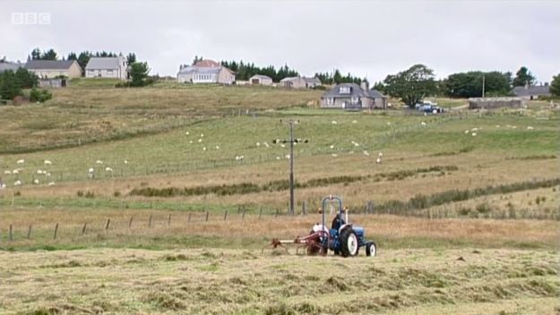 Sunday Politics Scotland - Crofting Commission Crisis - Crofter and tractor