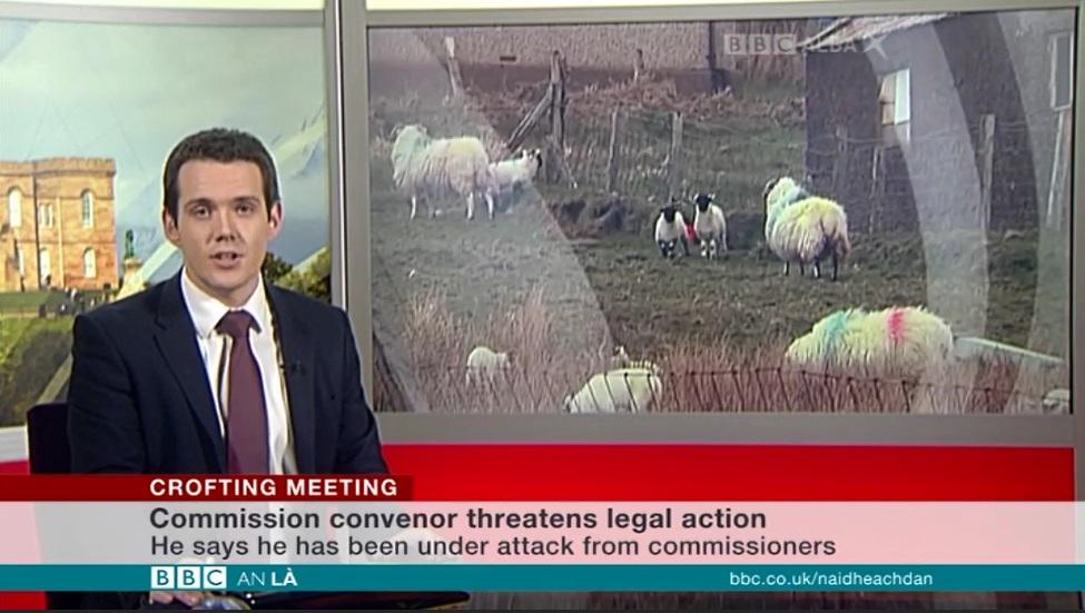 19996492e9fc Donald Morrison introduces the headline news item on BBC Alba An Là