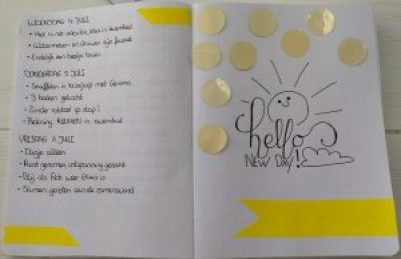 Inspirerende quote in positiviteit dagboek