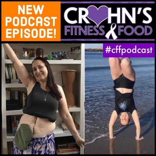 Crohn's Fitness Food podcast cover with Katie Vyn, Ulcerative Colitis warrior and ostomy advocate