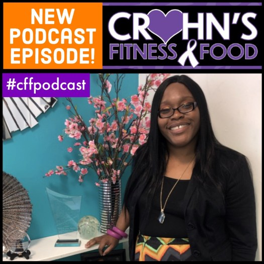 Crohn's Fitness Food podcast cover featuring author Anitriss Smith