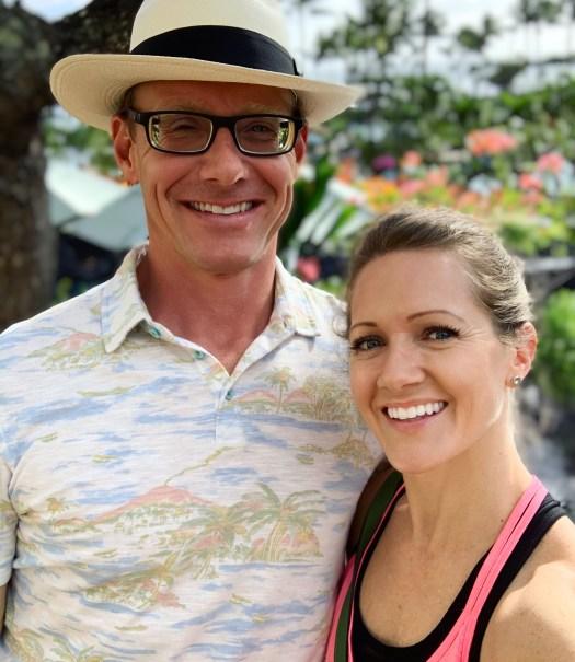 Steph and Jeff on the Island of Kauai while visiting Hawaii