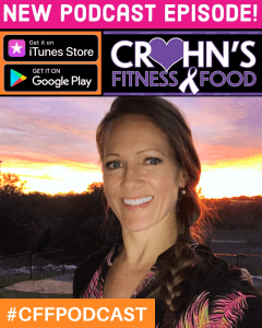 Cover of Crohn's Fitness Food Podcast with Stephanie Gish