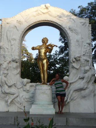 Me and Johann Strauss --Vienna