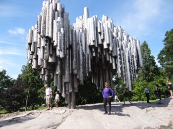 Memoriam for the famous musician Sibelius. Finland.