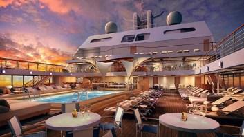 Piscine du navire de croisière de luxe Le Seabourn Encore
