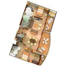 Plan de la Grand Wintergarden Suite - Seabourn Odyssey