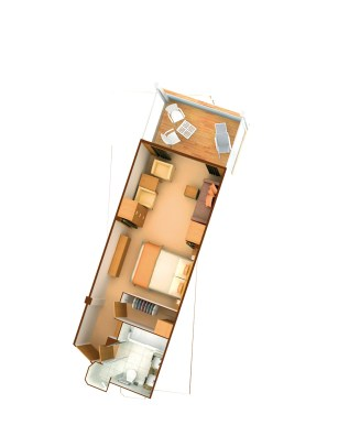 Plan de la Veranda Suite - Seabourn Odyssey