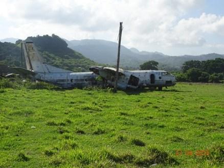 Le cimetière d'avion à l'ancien aéroport de la Grenade
