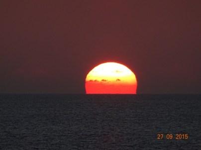 Couché de soleil au départ de la Grenade