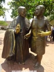 Escale à Cartagena en Colombie Statue
