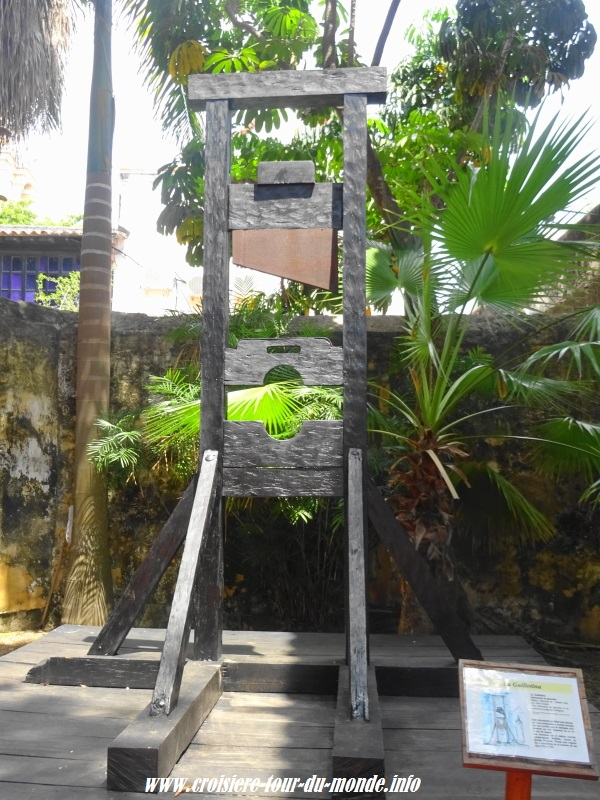 Escale à Cartagena en Colombie guillotine