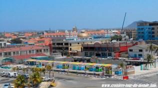 Vue depuis la cabine sur Oranjestad Aruba