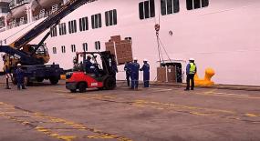 Croisière tour du monde Australe 2017 Costa Luminosa à quai au port de Valparaiso 2