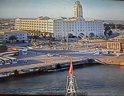 Escale à Montevideo Uruguay webcam avant du Queen Victoria