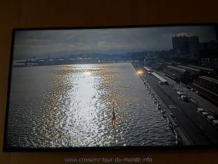 Escale à Rio de Janeiro au Brésil Webcam avant du Queen Victoria