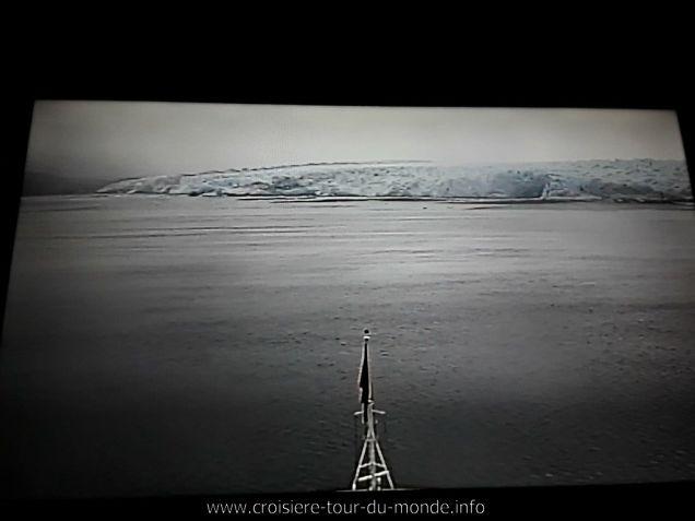 Glaciers Pio XI vue de la Webcam du Queen Victoria