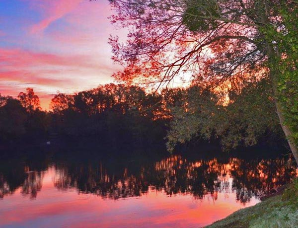 Sunset across Crois Lake