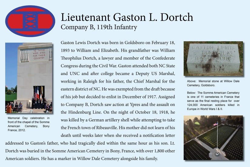 Lt. Gaston Dortch, World War I