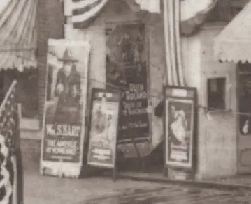 Downtown Goldsboro movie posters, 1920