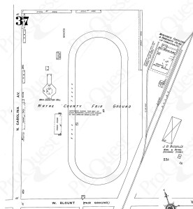 Goldsboro Fairground, 1924 Sanborn map