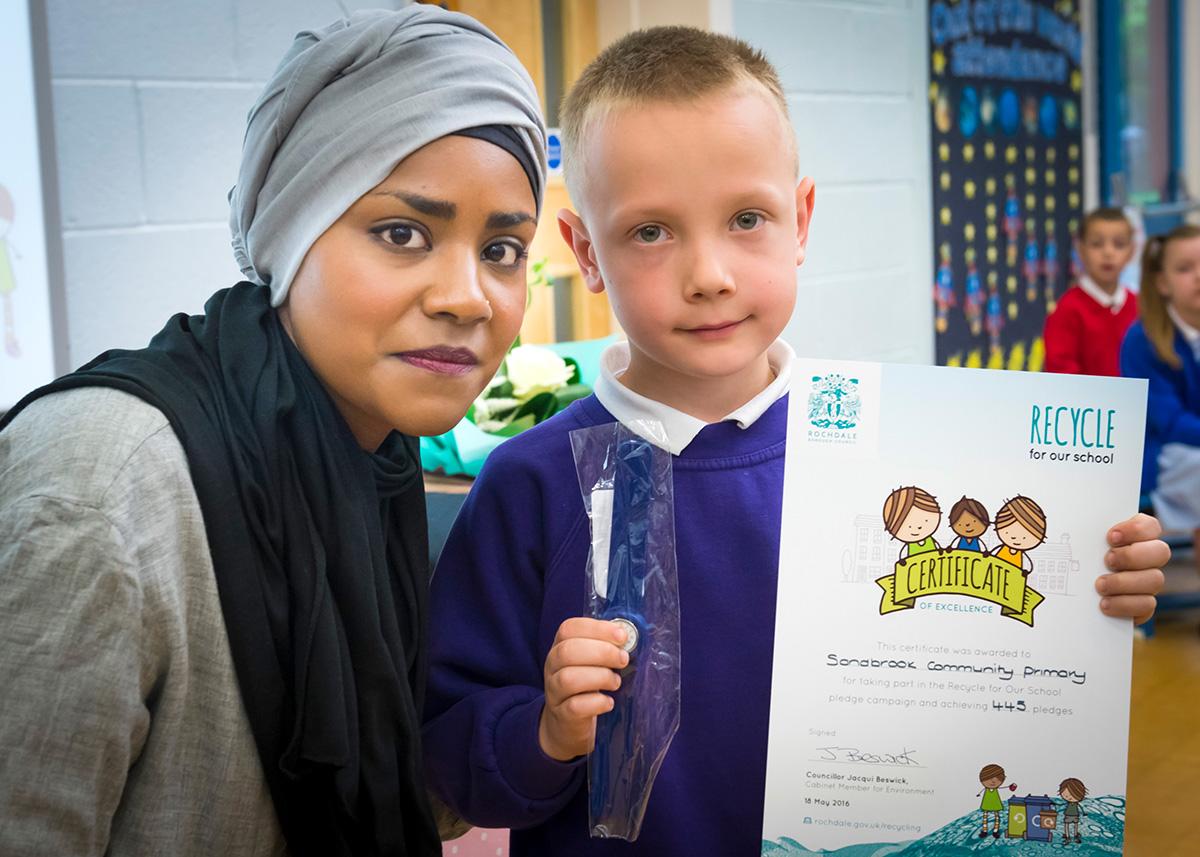 Nadiya Hussain recycling campaign