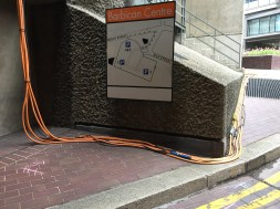Orange Cables on their way to the basement