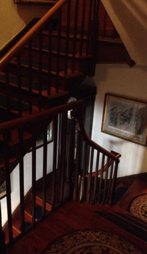 Main stairwell in the Farnsworth House Inn in Gettysburg