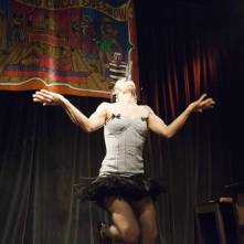 Performer at the current day Coney Island Circus Sideshow