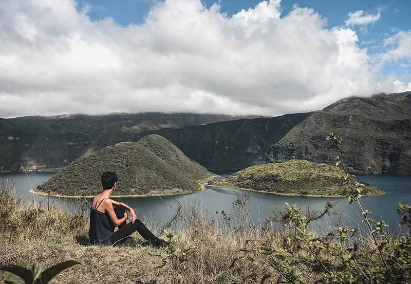 La laguna de Cuicocha de Ecuador