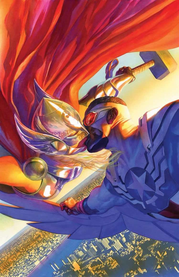 Beijo Gay entre Thor e Capitão América