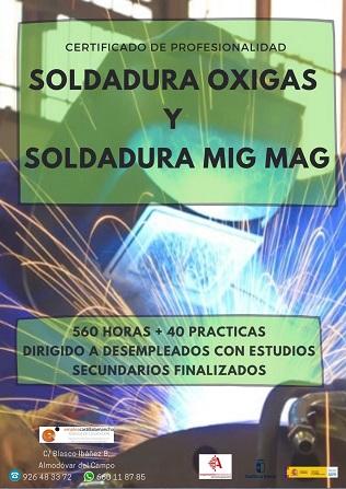 Certificado de Profesionalidad de Soldadura Oxigas