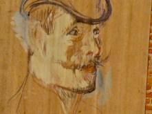 """Imagen de Toulouse Lautrec en los muros del """"Palais de la Berbie""""."""
