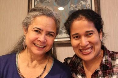Con Esmeralda Santiago, escritora puertorriqueña.