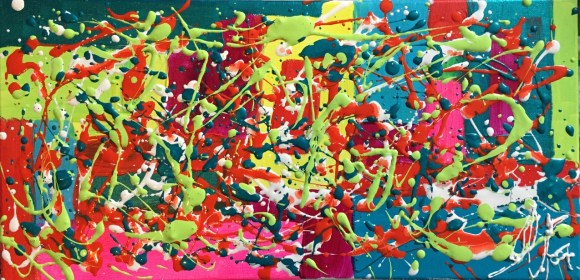 Abstract Acrylic 25.4 cm x 50.8 cm / 10 in x 20 in