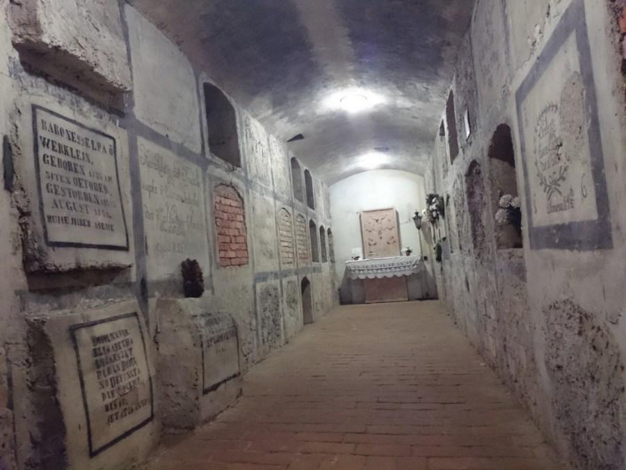 Catacumbas en la Catedral de San Martin. Bratislava. Qué ver en Bratislava