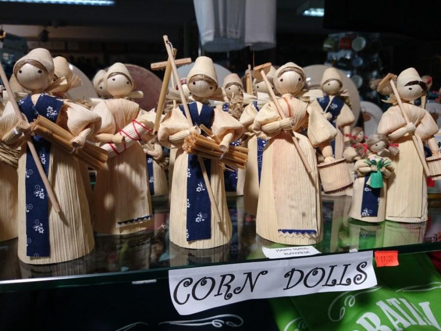 Figuritas hechas de maíz. Típicas de Bratislava.