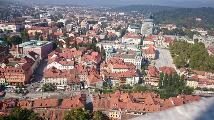Vistas desde el Castillo de Liubliana, Eslovenia.