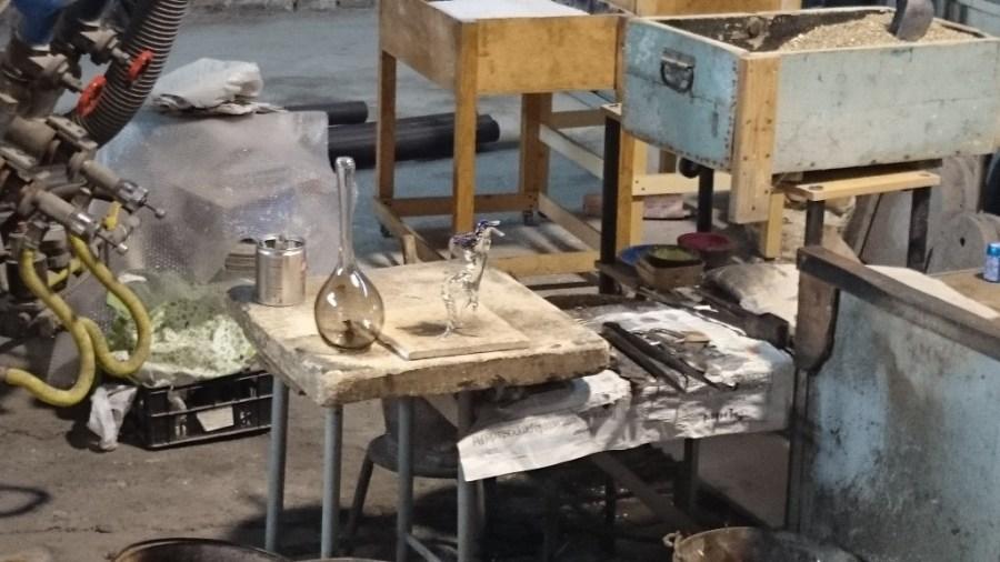Soplador de vidrio. Murano. Venecia