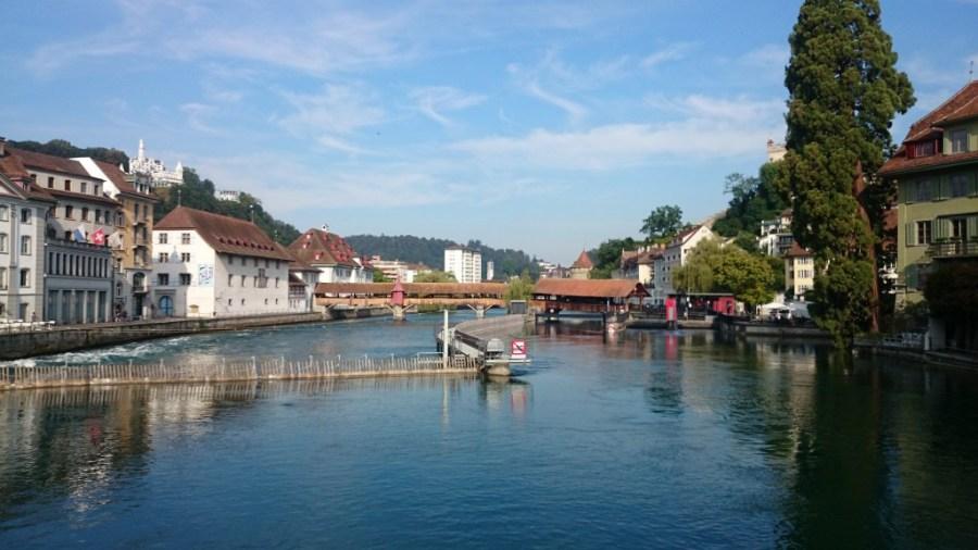 Puente Spreuer. Qué ver en Lucerna.