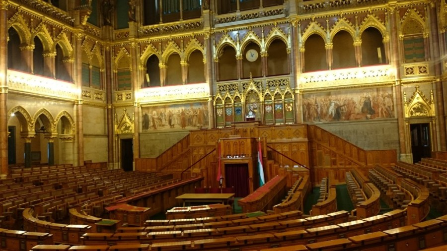 Budapest en 3 días. Interior del Parlamento, Cámara Alta.