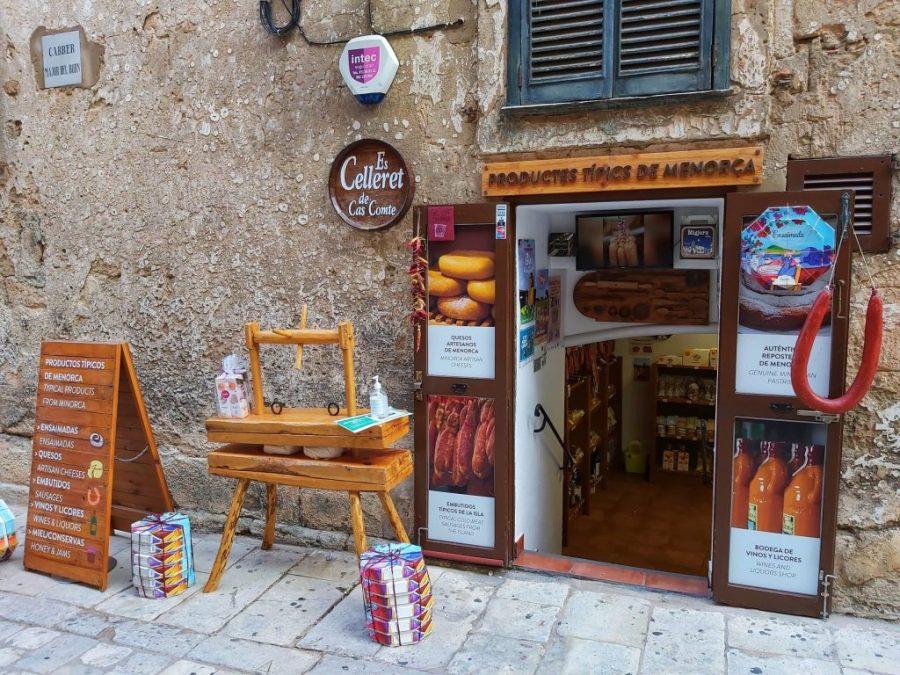 Productos típicos de Menorca.