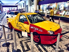 Um Ford Courier pick-up de competição de Nelson Sant'Ana