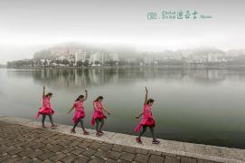 Macau: 西灣湖 Exercício matinal no Lago Sai Van.