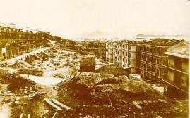 1869年建設中的太平山Victoria under construction Victoria em construção