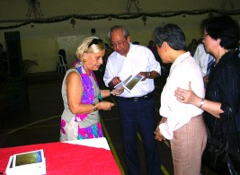 Com Adalberto Remédios, Cecília Silva e Natércia Luz Silva