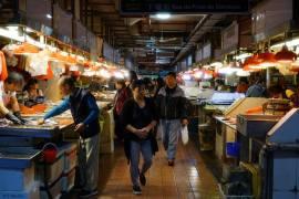 Interior do Mercado S.Lourenço. Foto: Manuel V. Basílio