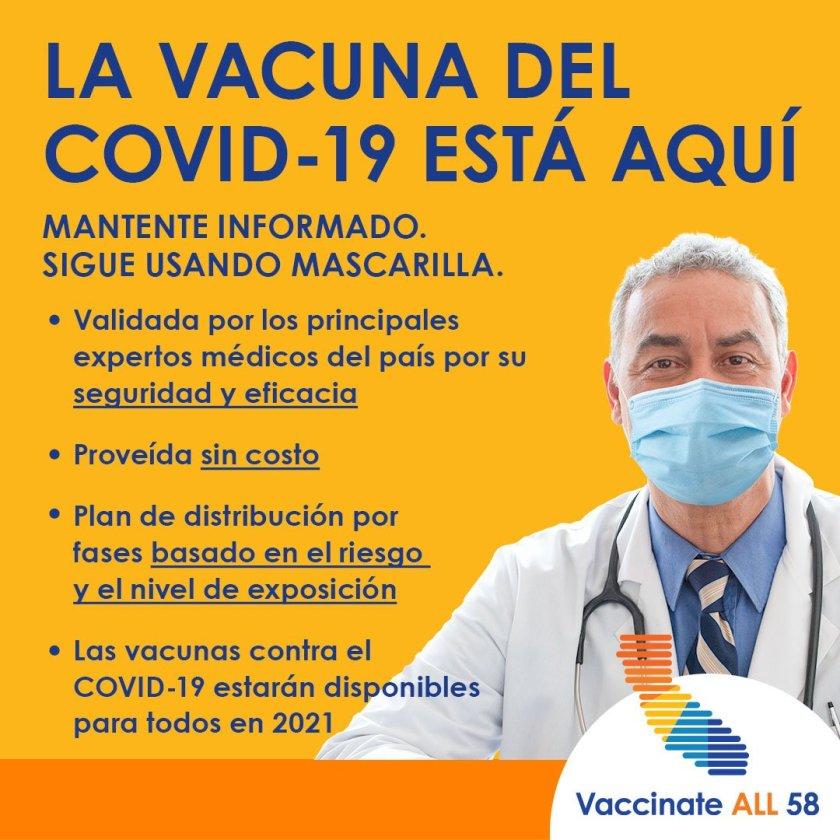 Plan de vacunación en los 58 condados de California