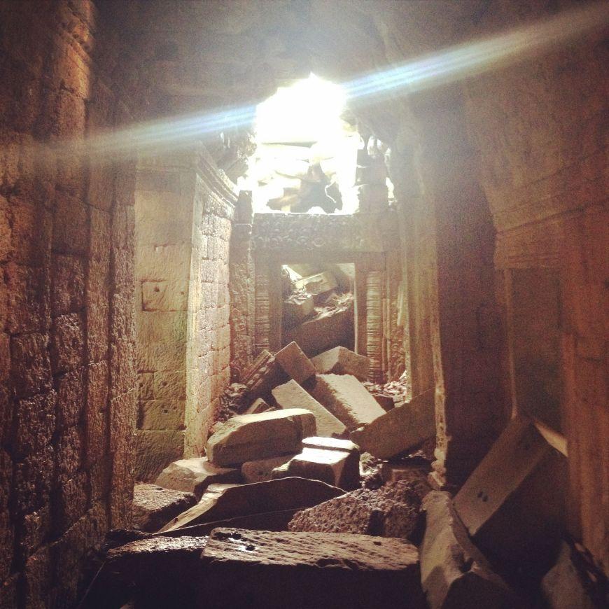 Interior templo Angkor, Camboya