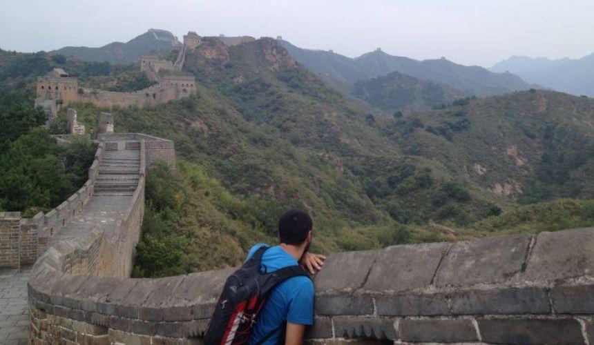 Mirando la Gran Muralla China